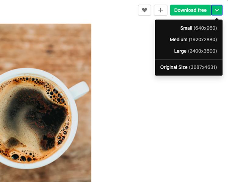 高解像度写真がダウンロード可能